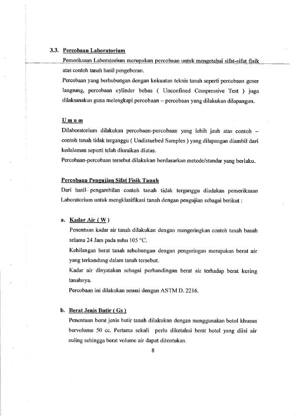 Laporan Soil Test Project Lagan Bridge 1 011 Https Japarnurdinblog Wordpress Com