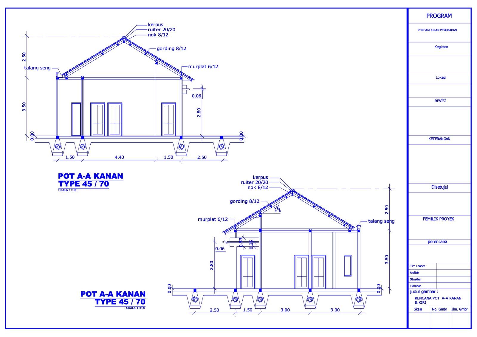 Desain Gambar Rumah Tinggal Type 45 70 Https Japarnurdinblog Wordpress Com